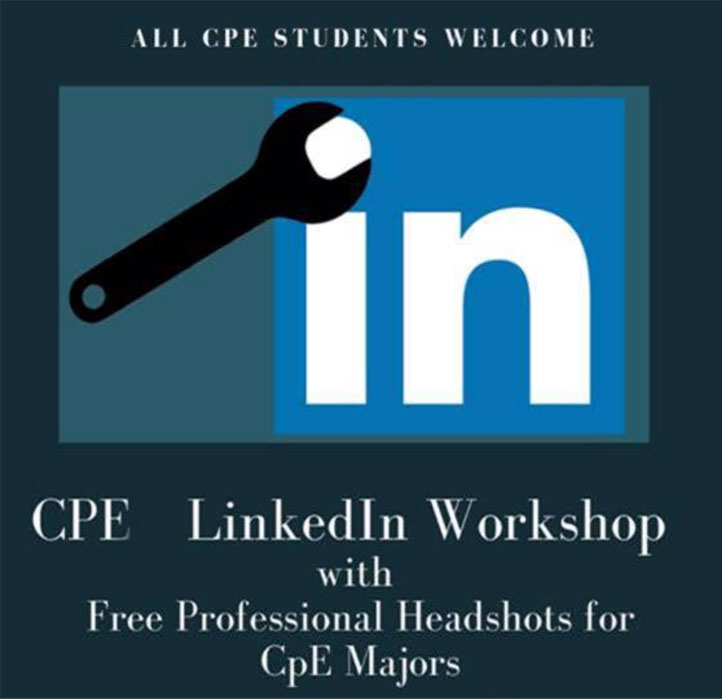 CPEA LinkedIn Workshop with free professional headshots for CpE majors
