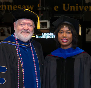 2017 KSU Commencement, Dean Currin and LaDoris Harris