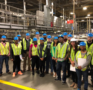 Students take a tour of Anheuser-Busch