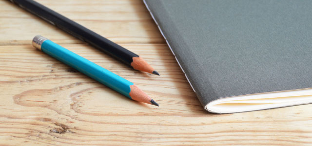 Notebook and pencils in the Peer Mentoring Center